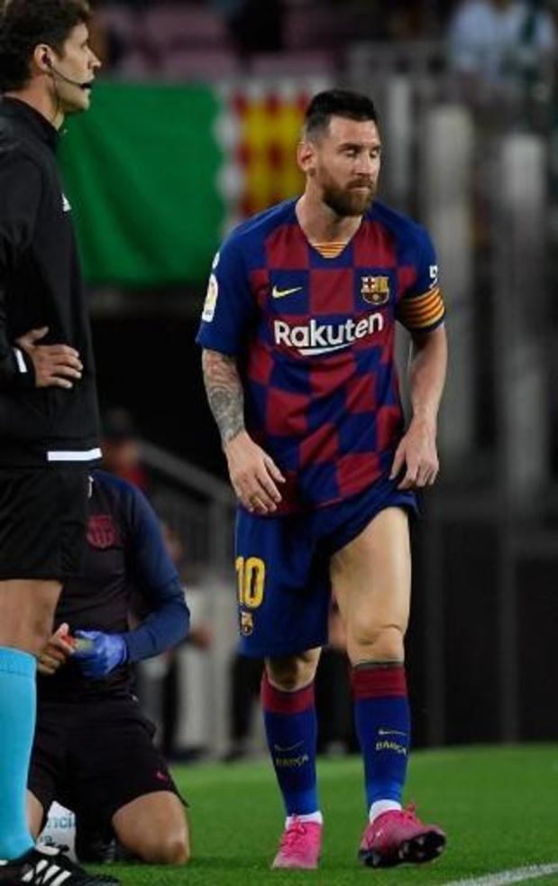 """La Liga - """"Messi uit voorzorg gewisseld"""""""