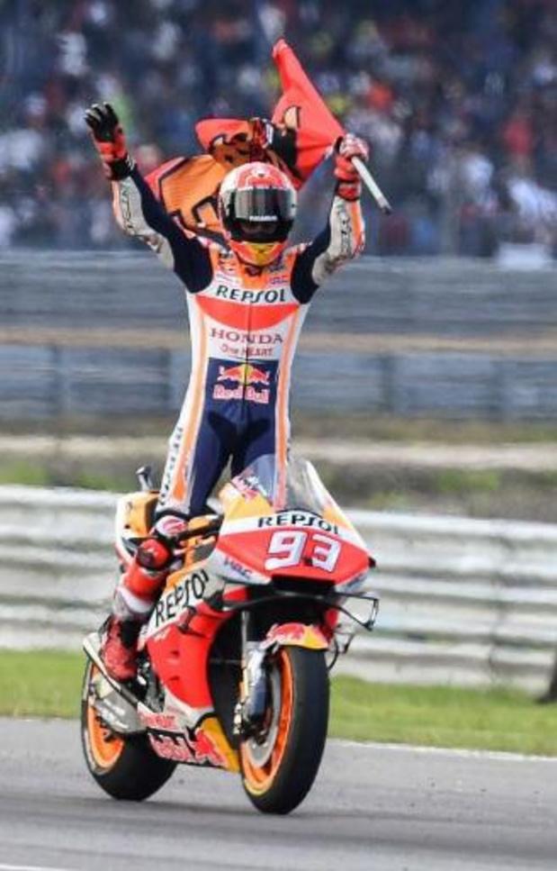 Victoire en Thaïlande de Marc Marquez (Honda) qui empoche un sixièmee titre mondial