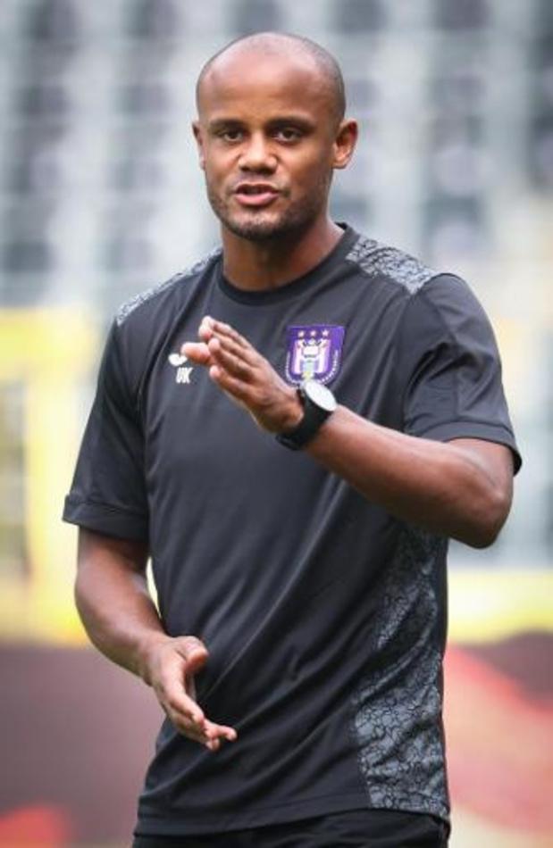 Rôle d'entraîneur de Vincent Kompany: 5.000 euros d'amende pour Anderlecht