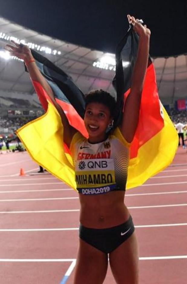 WK atletiek - Malaika Mihambo is beste verspringster