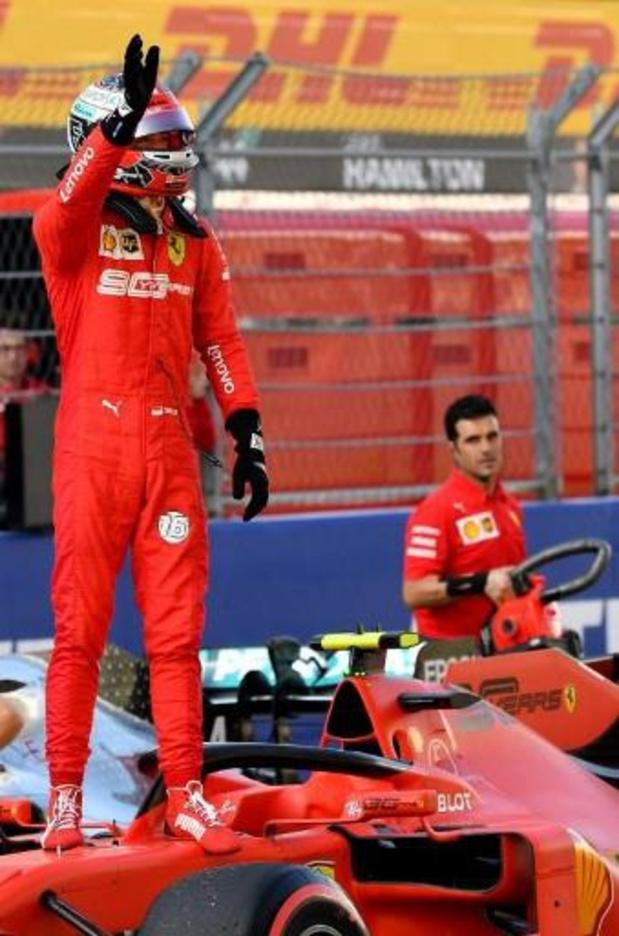 Le Monégasque Charles Leclercq (Ferrari) signe sa 4e pole d'affilée au GP de Russie
