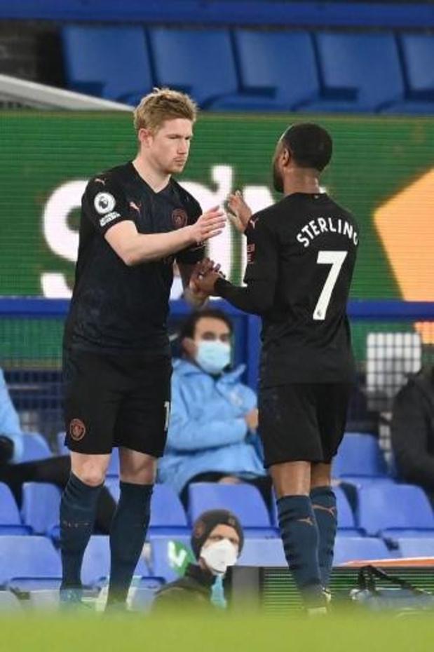 Belgen in het buitenland - Manchester City, met De Bruyne als invaller, verslaat Everton