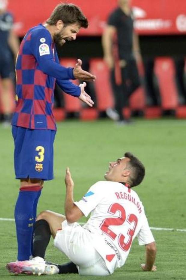 La Liga - Piqué ziet titelkansen van Barcelona somber in