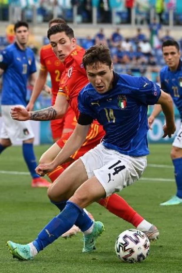 Euro 2020 - Federico Chiesa élu Homme du match Italie - Pays de Galles