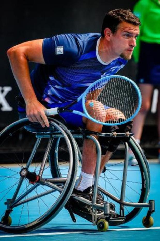 Joachim Gérard ne jouera pas la finale du double en fauteuil