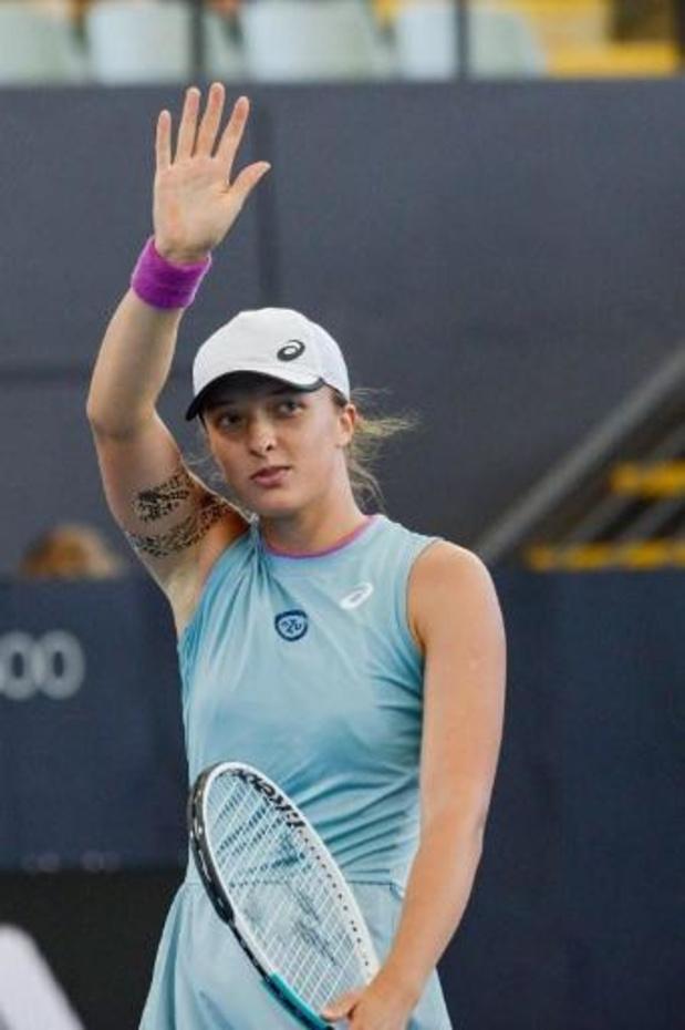 Iga Swiatek contre Belinda Bencic en finale