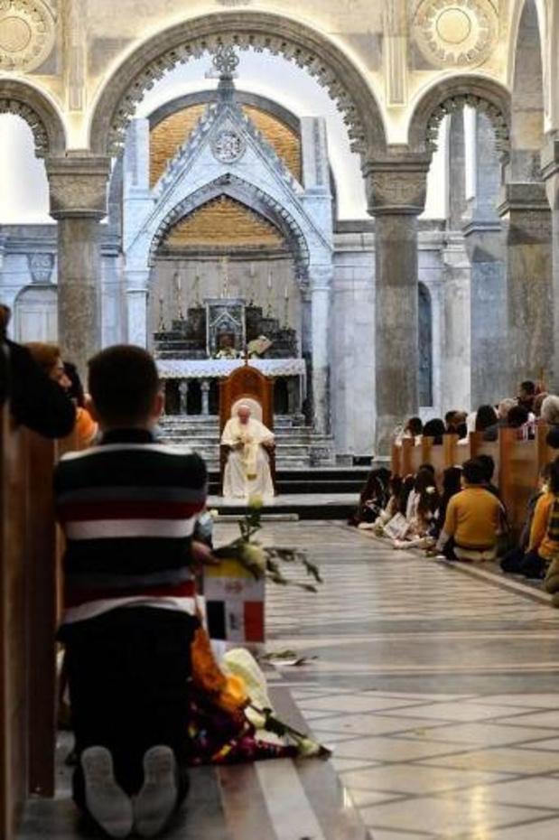 Paus moedigt christenen in Qaraqosh aan hun geloof niet te verliezen