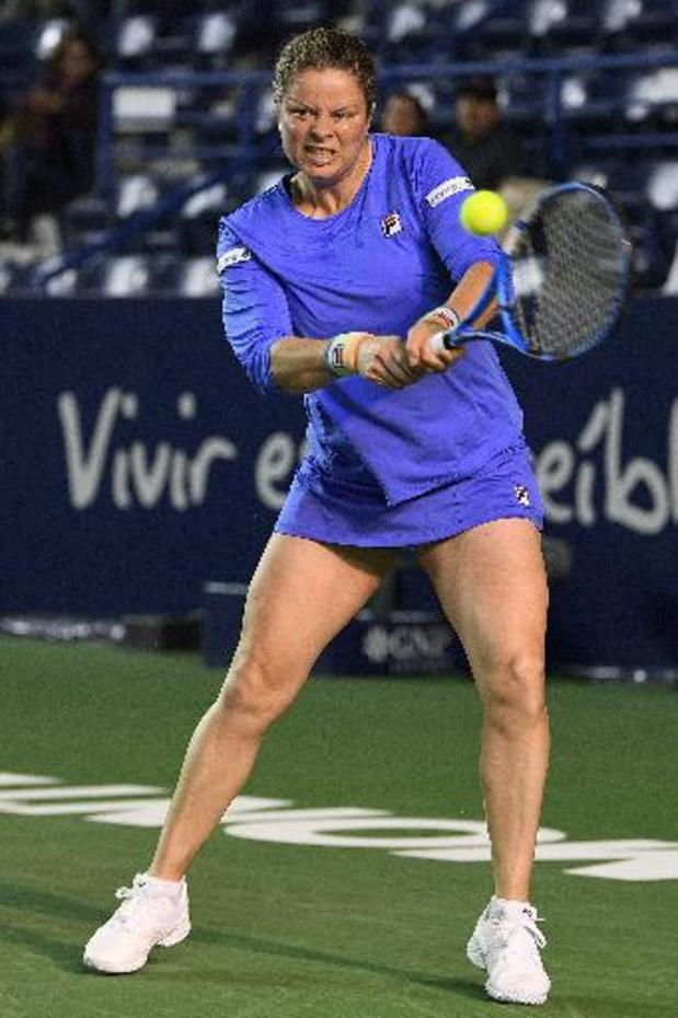 Kim Clijsters past voor US Open