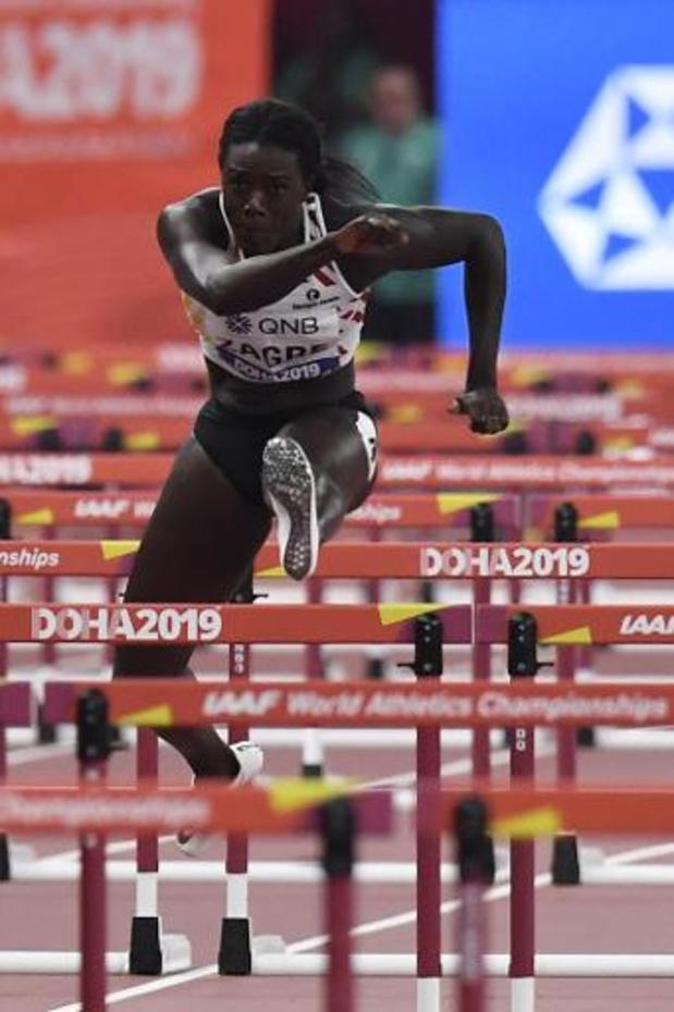 Anne Zagré en demi-finales du 100 m haies avec le 14e temps