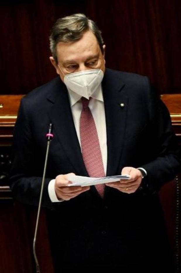 Italiaanse premier Draghi stelt in parlement zijn relanceplan voor