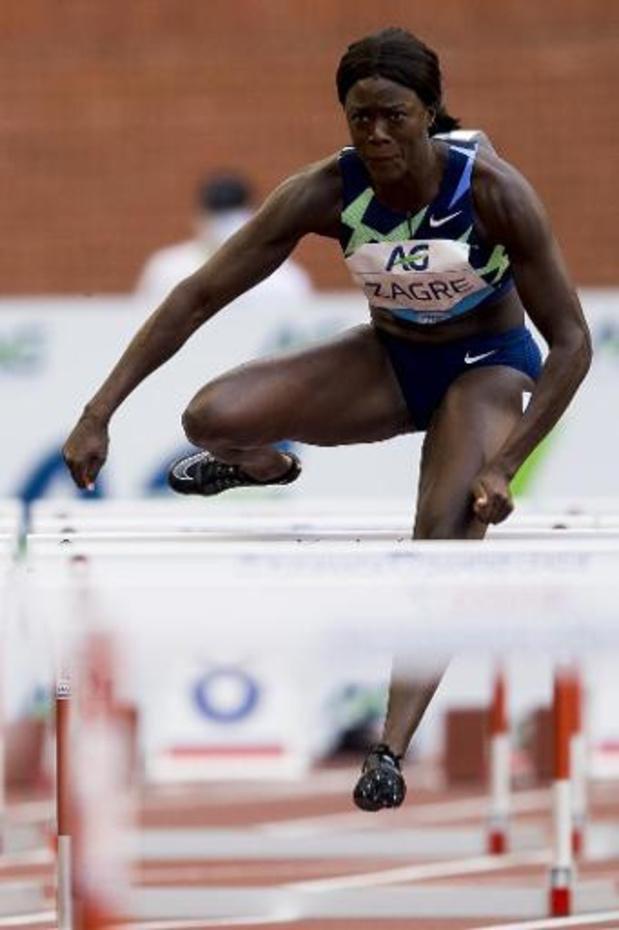 Anne Zagré snelt naar zege op 100m horden