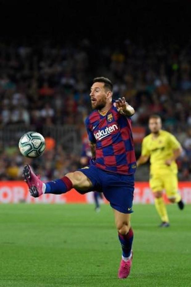Lionel Messi a repris l'entraînement avec Barcelone