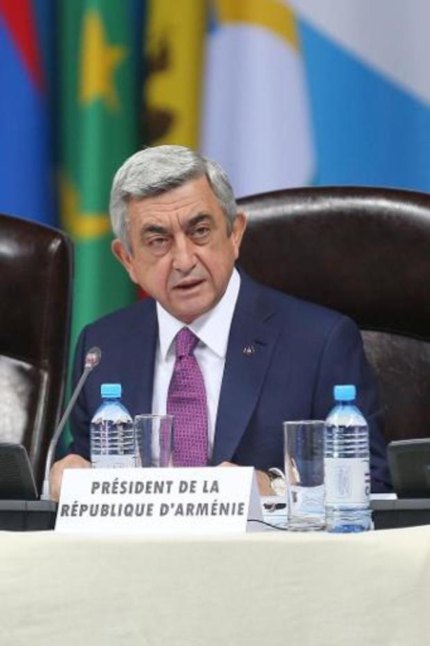 Armeense president op weg naar Brussel