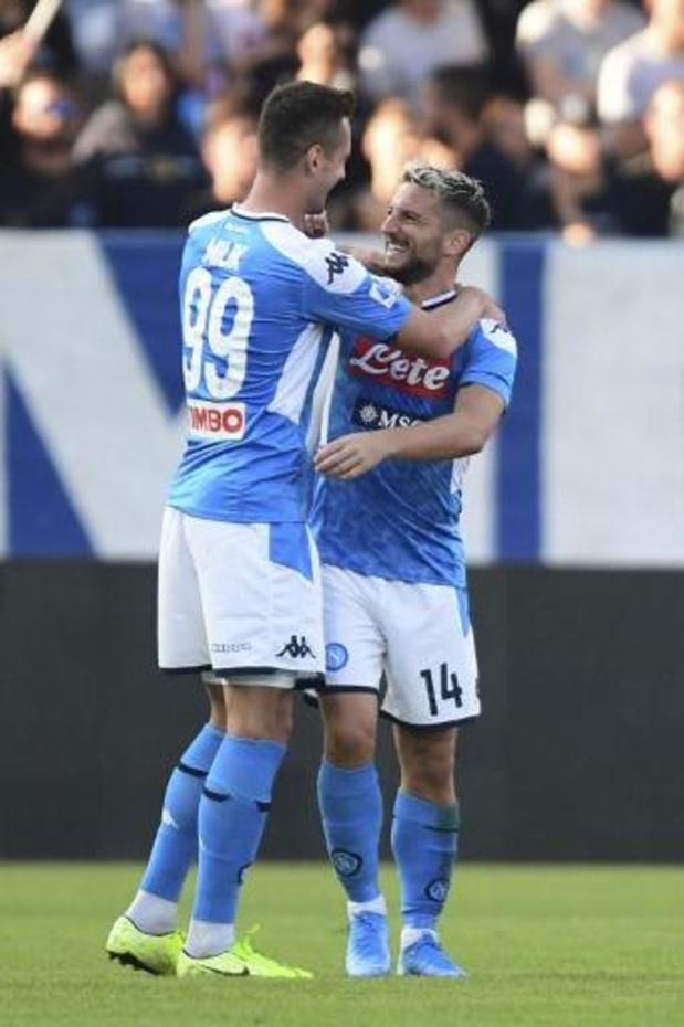 Les Belges à l'étranger - Naples et l'Atalanta partagent 2-2, Mertens et Castagne sont montés en cours de match
