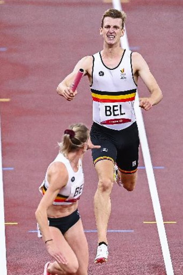 JO 2020: le relais 4x400m mixte se hisse en finale avec un record de Belgique