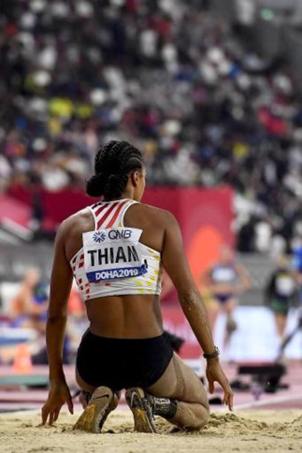 Mondiaux d'athlétisme - Katarina Johnson-Thompson a fait le poids et pris une longueur d'avance sur Thiam à Doha