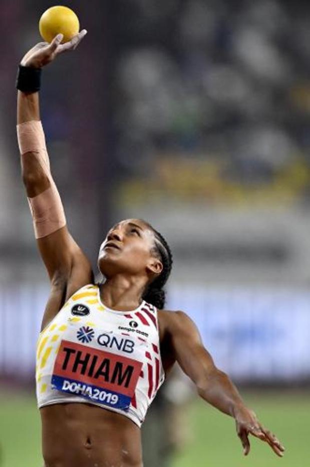 """WK atletiek - Nafi Thiam eindigt dag 1 op 2e plaats: """"verspringen en speerwerpen worden beslissend"""""""