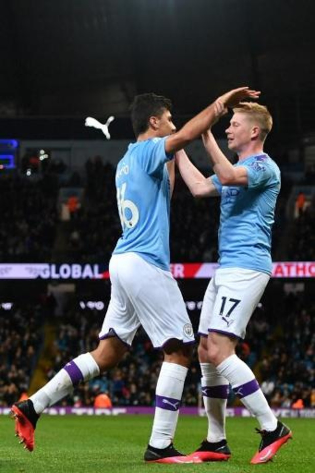 Les Belges à l'étranger - Manchester City (8e but et 17e assist pour De Bruyne) bat West Ham