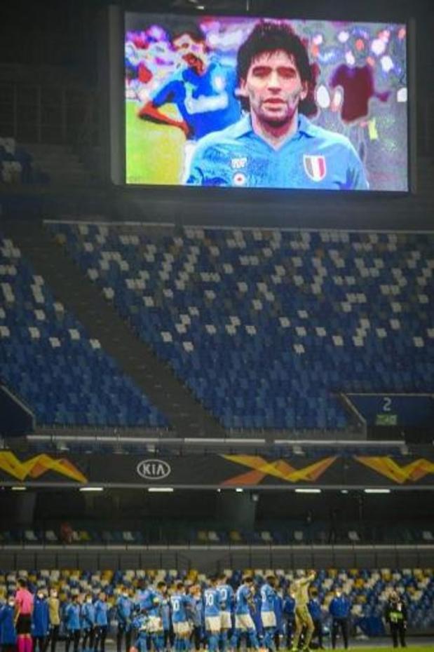 Décès de Diego Maradona - Tous les joueurs de Naples avec le N.10 sur le terrain