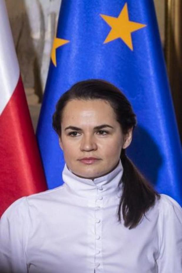 Wit-Russische oppositieleidster roept Rusland op om propaganda te stoppen