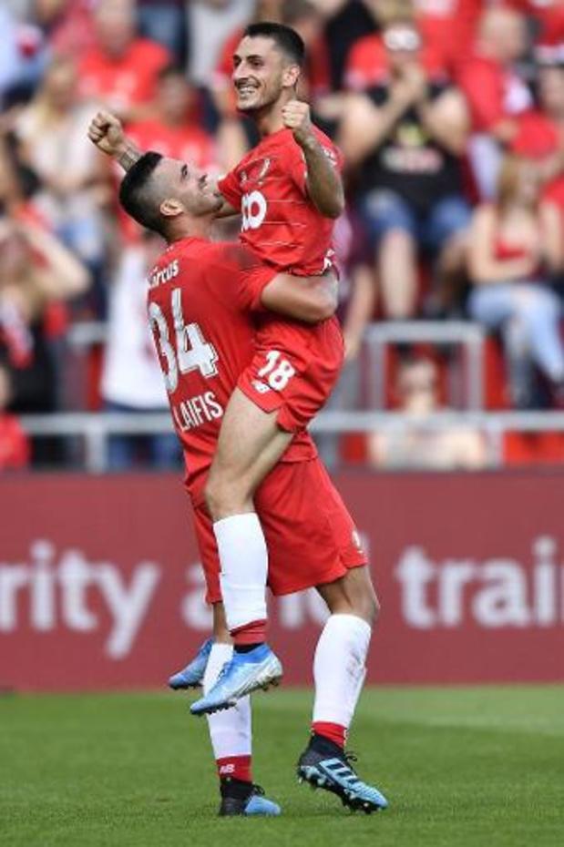 Le Standard bat Eupen 3-0 et se met provisoirement à l'abri d'un retour de Bruges