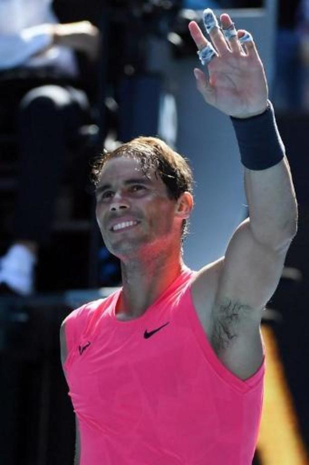 Nadal stoot vlot door op Australian Open