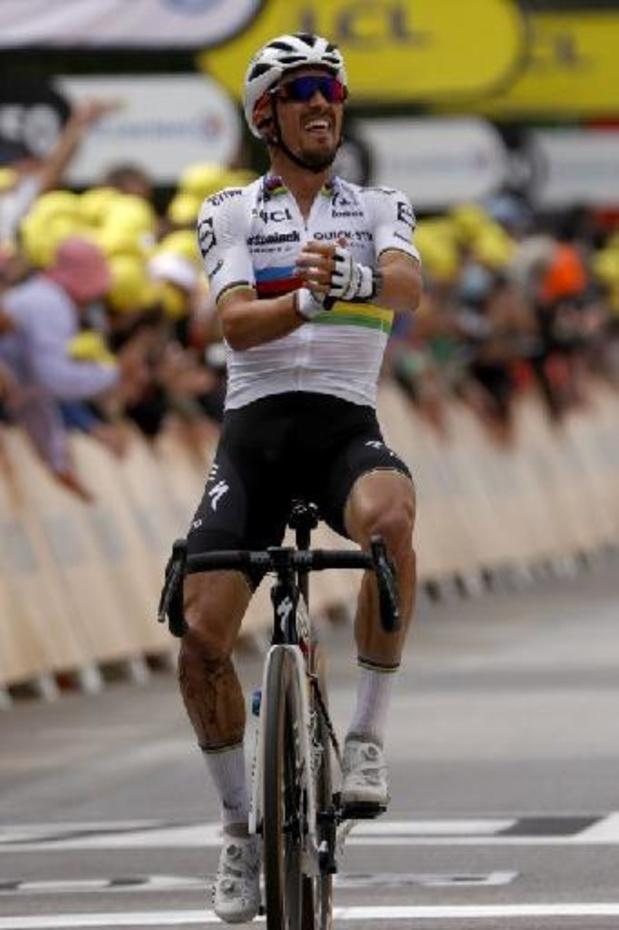 Tour de France - Alaphilippe wipt op slothelling naar ritzege en eerste gele trui
