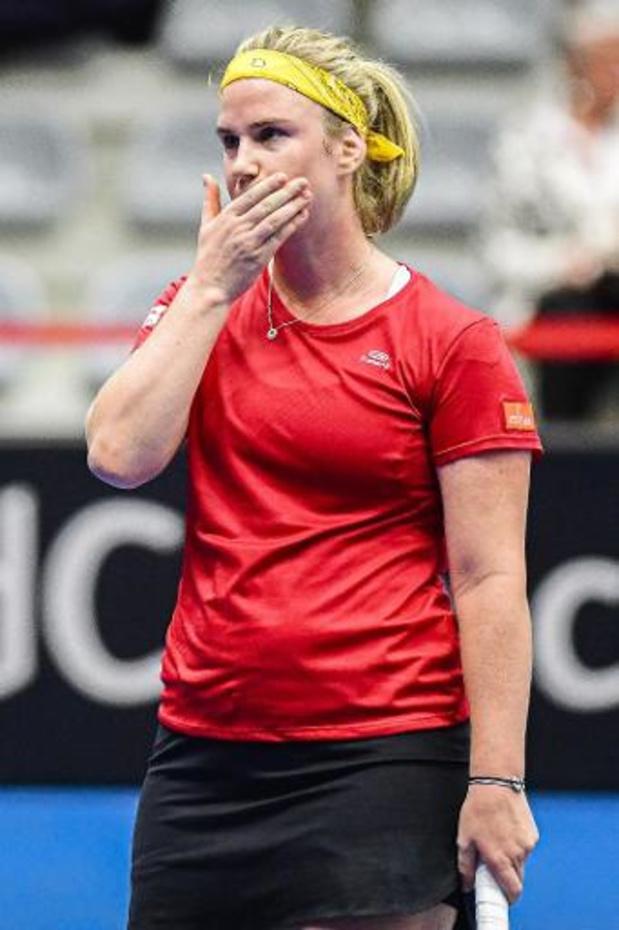 """Fed Cup - Bonaventure mist drie matchballen: """"Heel pijnlijk"""""""