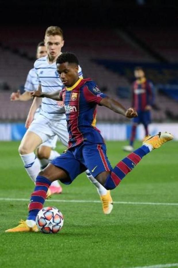 La Liga - FC Barcelona ziet toptalent Ansu Fati uitvallen met scheur in meniscus