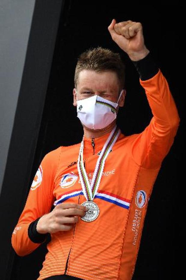 """Mondiaux de cyclisme - """"Alaphilippe était le plus fort"""", reconnaît Dylan van Baarle, deuxième"""