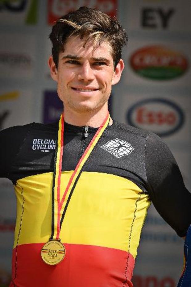 """Championnat de Belgique de cyclisme - Wout van Aert: """"Ce titre me donne pleine confiance pour le Tour de France"""""""