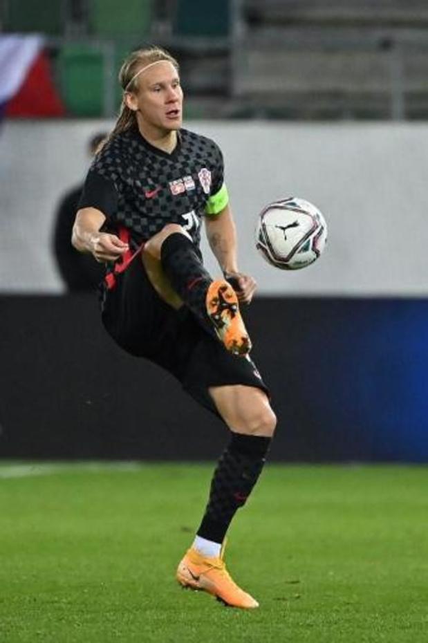 Kroatische aanvoerder Vida speelde helft tegen Turkije met coronavirus