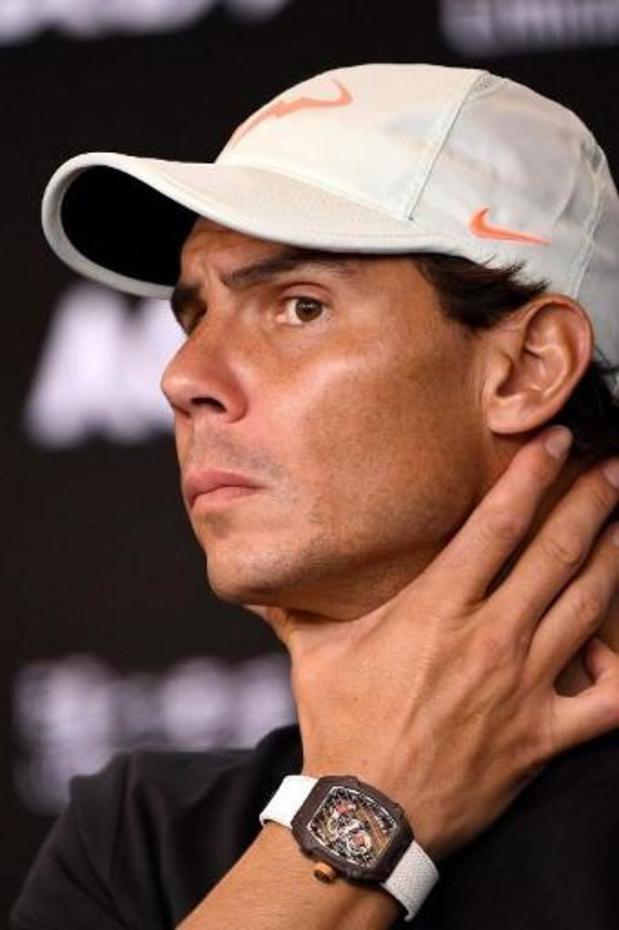 """Rafael Nadal, touché au dos, ne se sent """"pas super, clairement"""""""