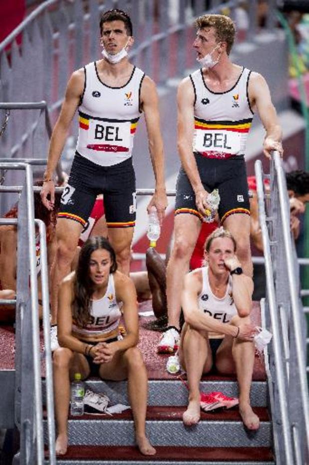 La réclamation de la Belgique dans le relais mixte du 4X400 m a été rejetée
