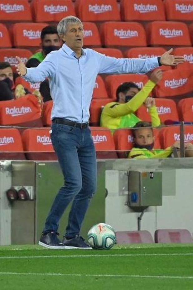 Barcelona-coach Setién wil niet speculeren over toekomst Messi