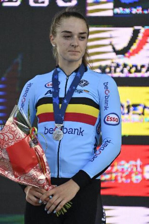 EK baanwielrennen voor beloften en junioren - Zilver voor Marith Vanhove in de scratch