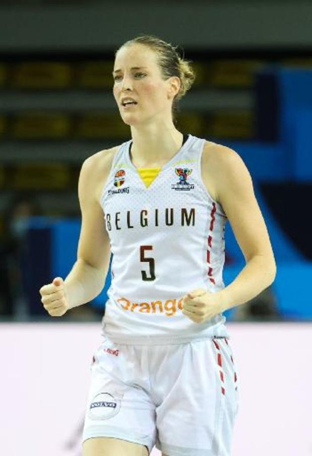 """Euro de basket féminin - Kim Mestdagh: """"on a montré que l'on pouvait jouer sous la pression"""""""