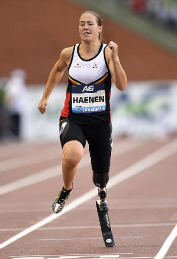 Mondiaux d'athlétisme paralympique: une médaille d'argent à la longueur pour Gitte Haenen