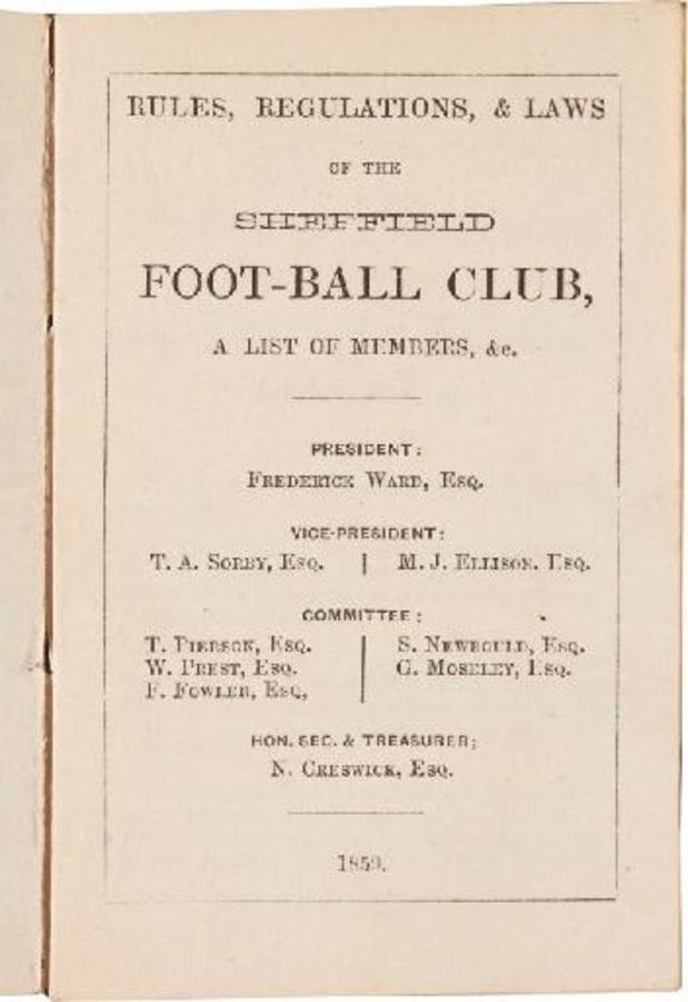 Les premières règles écrites du football vendues plus de 65.000 euros à Londres
