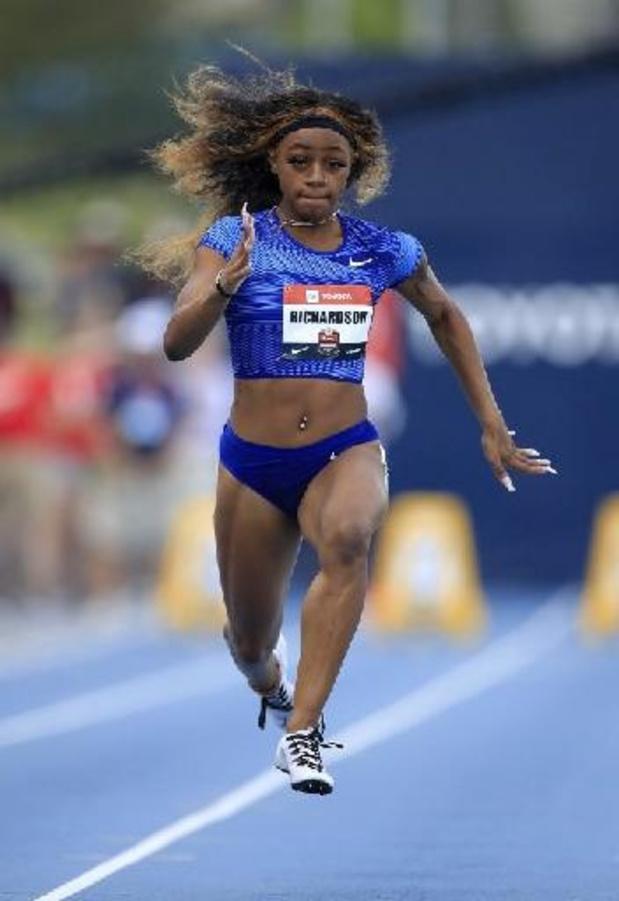 10.72 sur 100m pour l'Américaine Richardson, 6e athlète la plus rapide de tous les temps