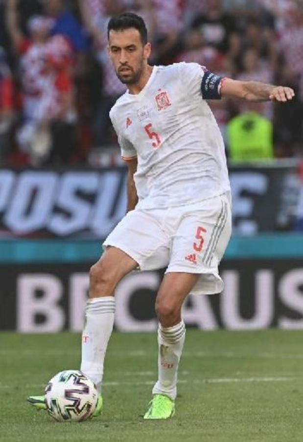 Sergio Busquets désigné Homme du Match après Croatie/Espagne