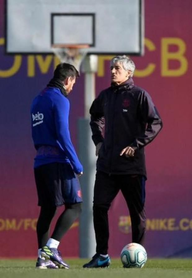 Lionel Messi terminera sa carrière au Barça, selon l'actuel entraîneur des Blaugranas