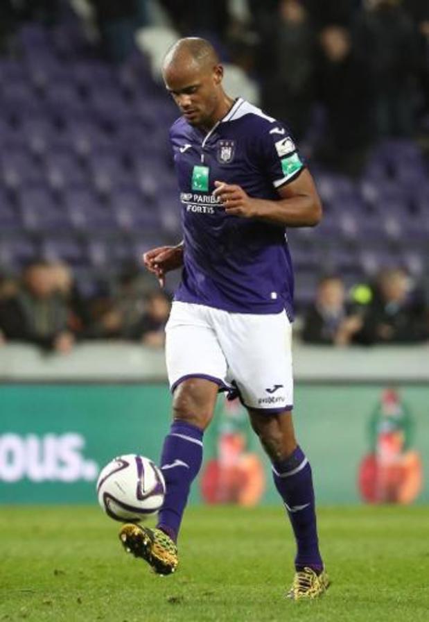 Anderlecht se rendra à Gand sans Vincent Kompany
