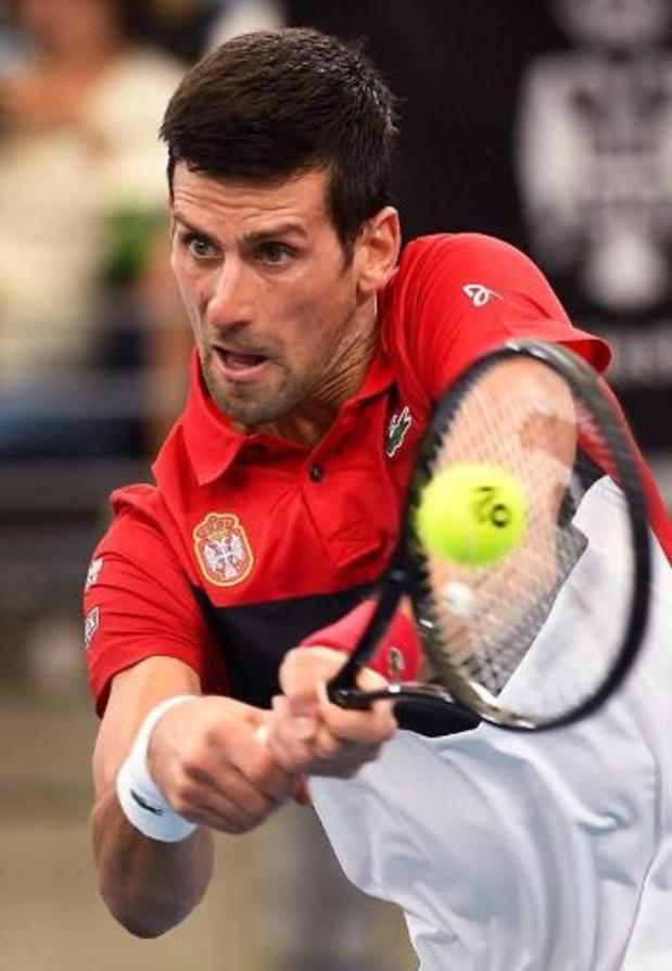 ATP Cup: Djokovic se fait peur mais qualifie la Serbie
