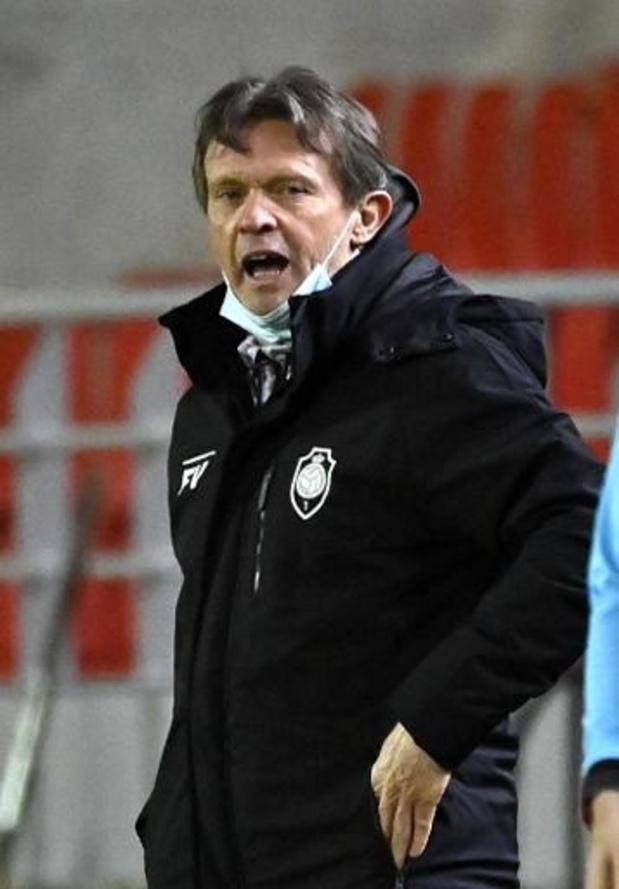 """Europa League - Pour Franky Vercauteren, l'Antwerp """"doit prendre l'initiative"""" aux Glasgow Rangers jeudi"""