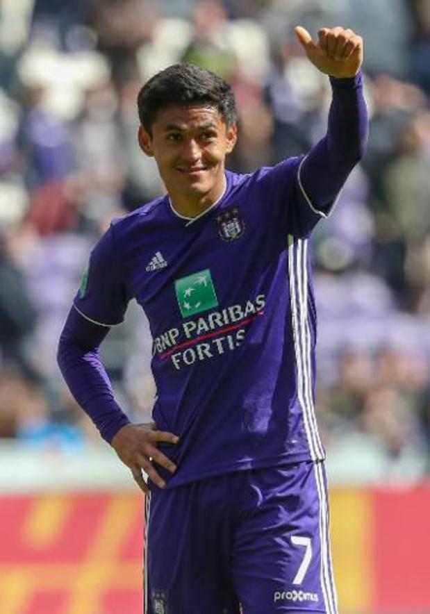 Andy Najar zwaait supporters van Anderlecht uit