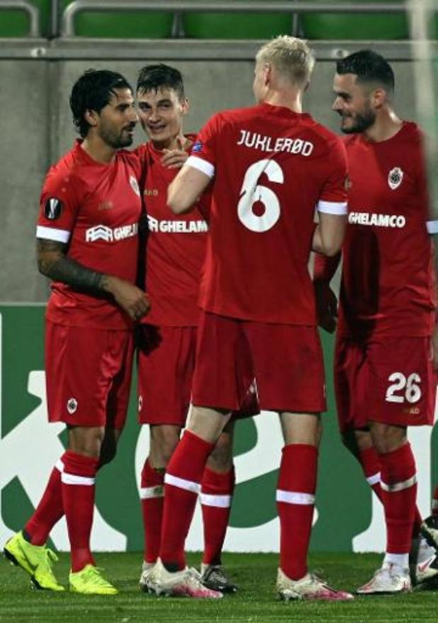 Europa League - L'Antwerp gagne à Ludogorets, La Gantoise battue par le Slovan Liberec