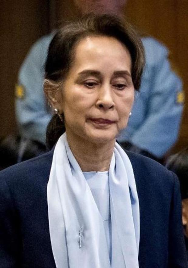 """Aung San Suu Kyi ontkent in Den Haag """"genocidaire intenties"""""""