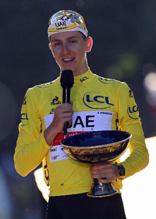 """Tour de France - Tadej Pogacar après son deuxième sacre : """"Des sensations folles"""""""