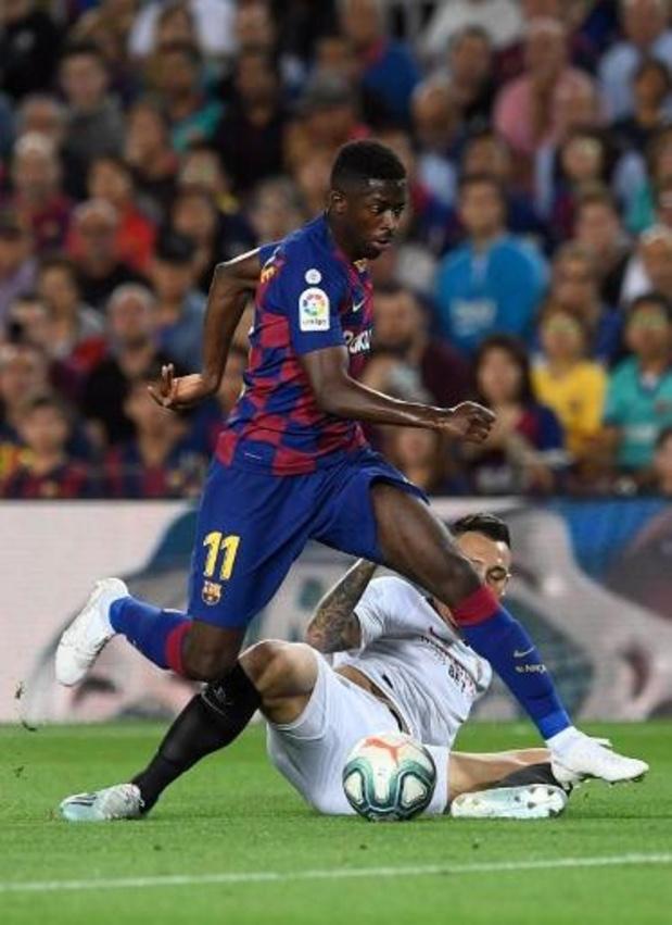 Ousmane Dembélé (FC Barcelone) blessé sérieusement à la cuisse droite